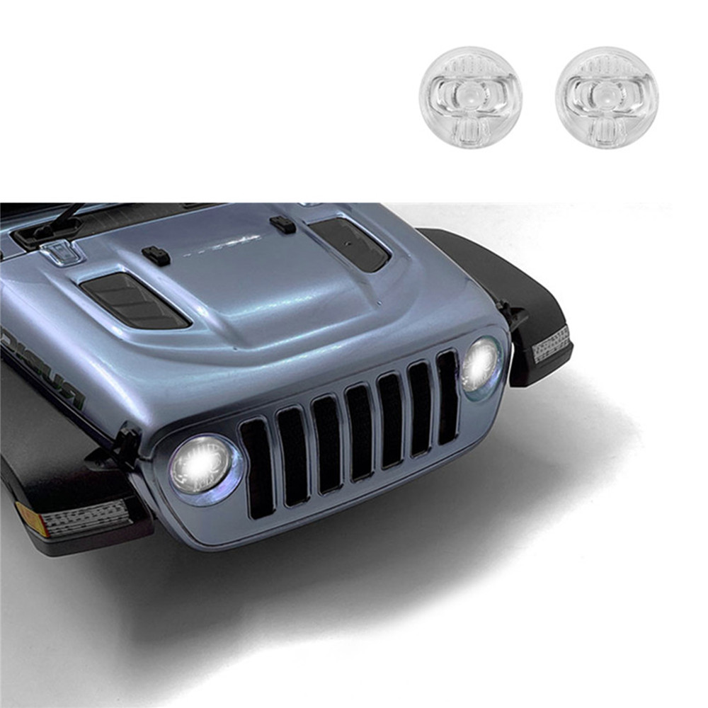 Transparent Headlight Cover For AXIAL SCX10 III Jeep Wrangler RC Car Shell Upgrade Kit High Simulation Headlight Lampshade