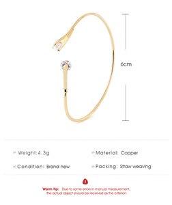 Image 5 - ZYZQ גבוהה באיכות אביזרי חתונה צמיד עם מבריק מסנוור קריסטל מעוקב זירקון אבן אופנה צמיד סיטונאי המון