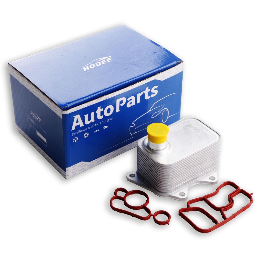 HODEE oil cooler for Audi VW with Gasket OE: 06J 117 021D / 06J 117 021J / 06J 117 021M / 06J117021D / 06J117021J
