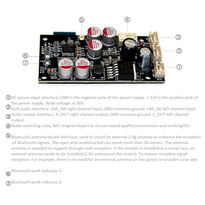 Image 4 - ロスレスワイヤレスオーディオbluetoothレシーバー5.0デコードボードdac 16Bit 48 125khzアンプdiyスピーカー