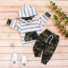 Autumn Cotton Camo Baby Boy Clothes 2Pcs Set Long Sleeve Hoodies+trousers Toddler Boy Clothing Sport Outfits Infant Suit D30