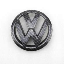Emblema para frente de fibra de carbono, emblema de substituição para vw volkswagen golf mk6 135 2009 2010, 2011mm 2012