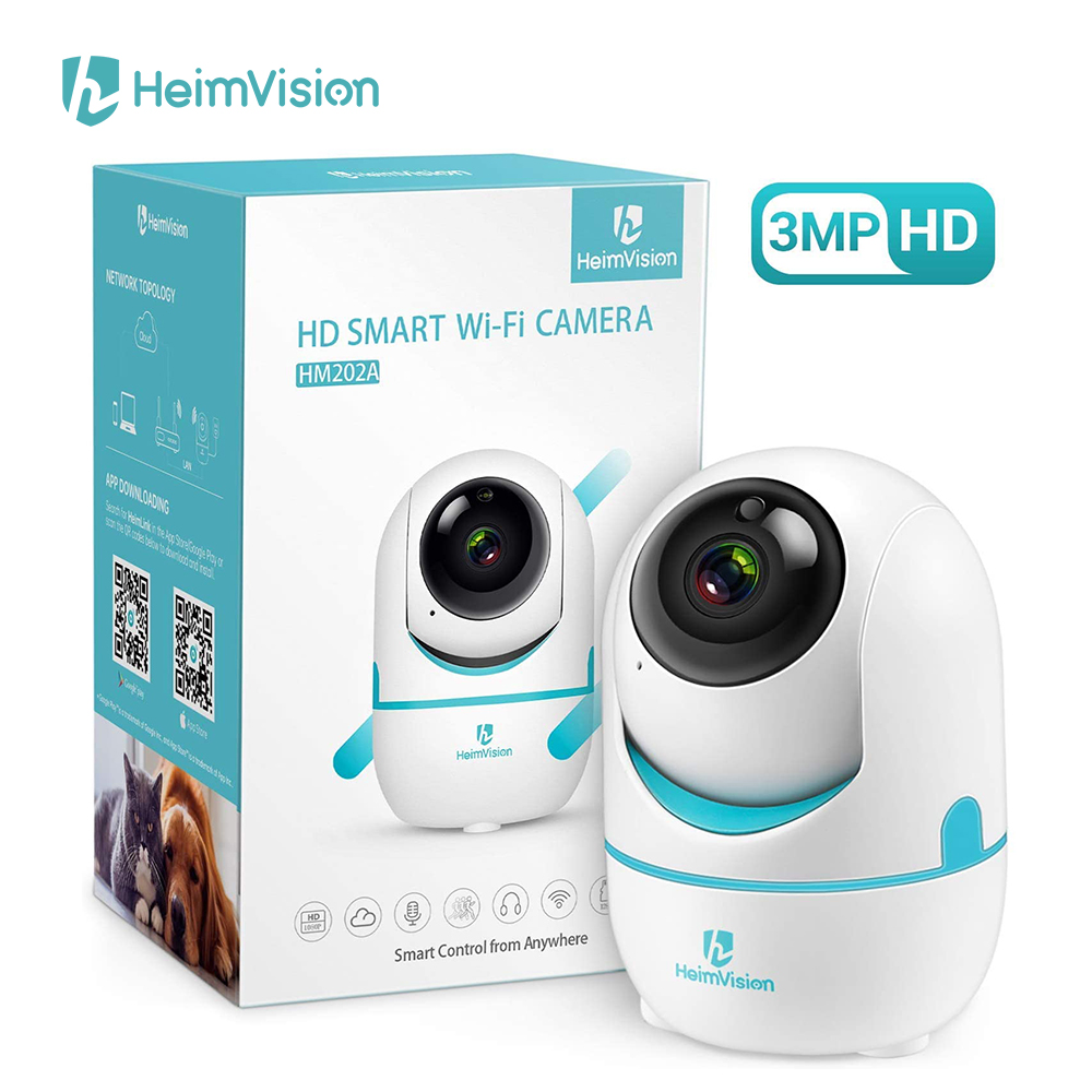 HeimVision HM202A 2K 3MP Wireless WiFi Security Camera 2 Way Audio/Motion Detection Home Indoor Surveillance Camera for Kids/Pet