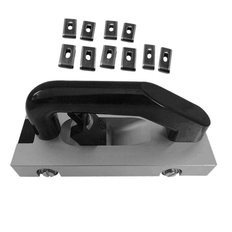 U-Type Blade Wheeled Vinyl Groover Floor Grooving Slotting Pull Hand Flooring Tool Slotter PVC Vinyl Welding Plastic Welding Kit