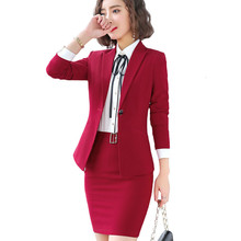 Fashion Women Long Sleeved Jacket Dress Slim Skirt Suits Two Pieces Together Large Office Lady Working Clothes Maternity