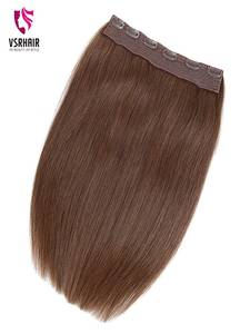 Hair-Extension Human-Hair Clip-In Halo Easy-Do-Clip VSR Remy Ins European-Quality 24inch