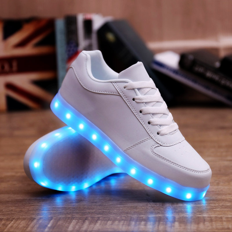 KRIATIV Luminous Sneakers USB Charger Glowing Sneakers Lighted Shoes Casual Led Shoes For Children Kids Footwear LED Slippers