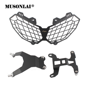 Motorcycle Headlight Guard Grill Protector Headlamp Cover Bracket for HONDA CRF1000L CRF 1000L CRF 1000 L AFRICA TWIN 2016 2017
