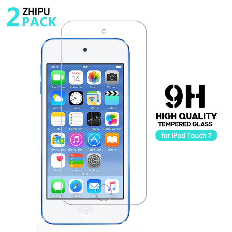 2Pcs Tempered Glass For iPod Touch 7 2019 Screen Protector 2.5D 9H Tempered Glass For iPod Touch 5 Touch 6 Protective Film(China)
