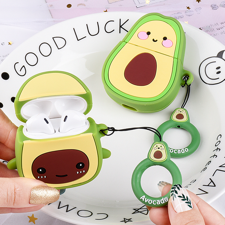 For Airpods Case Cartoon Cute Avocadol Accessories Cover For Airpods Fashion Silicon Earphone Case SFor Apple Airpods 2 Cover
