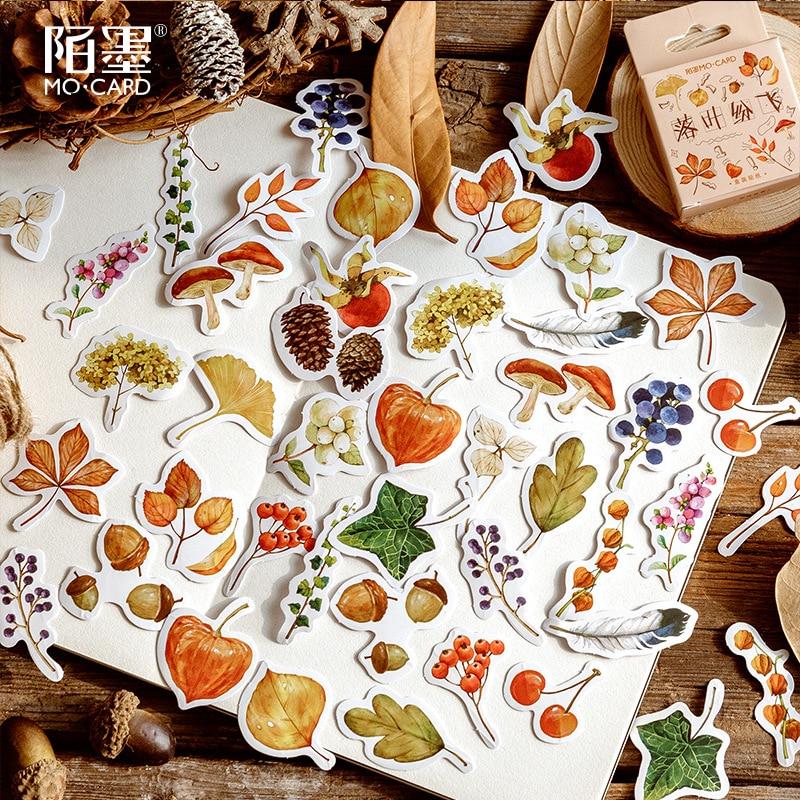 46pcs/set Autumn Harvest Decoration Stickers Diy Hand Craft Planner Scrapbook Label Diary Stickers
