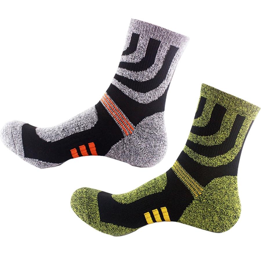 Winter Men Sport Socks Thicken Thermal Wool Pile Cashmere Snow Socks Travel Seamless Sleeping Socks For Mens EU 39-44 Meias