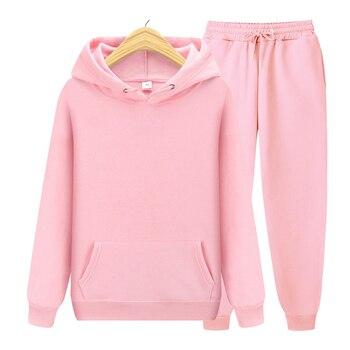Hoodies+Pants Autumn Winter Hooded Sweatshirt Sweatpants Fashion Slim Fit Men Set Hoodie Pant Hip Hop Pullover Hoody S-XXXL