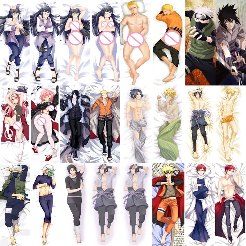 Anime NARUTO Uchiha Sasuke Uzumaki Naruto Kakashi Hyuga Hinata Hugging Body Pillowcase Dakimakura Pillow Cover