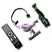 KIT for LTN156AT30-B02/H01/L01/T01/W01 LVDS 40-Pin 1366*768  VGA USB remote+keyboard LCD panel Analog TV control drive board
