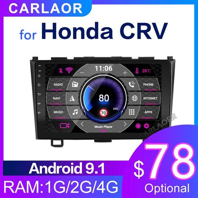 """Araba radyo multimedya oynatıcı 2 din 9 """"Android 8.1 otomobil radyosu navigasyon Honda CRV CR V 2006 2011 stereo wifi navi gps"""