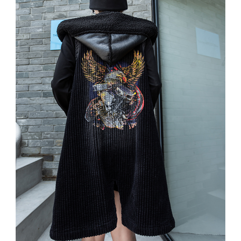 Image 2 - Max LuLu Fashion Korean Leather Clothes Ladies Luxury Hooded  Vests Womens Casual Long Fur Coats Winter Warm Oversized  WaistcoatsVests