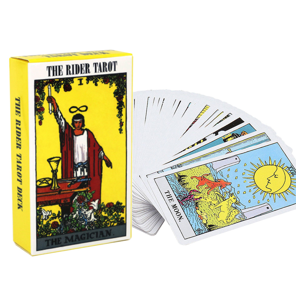 78pcs Deck Tarot Cards Funny Future Telling Astrology Beginner Family Friends Mysterious Knight Ladd Waite Board Game Portable
