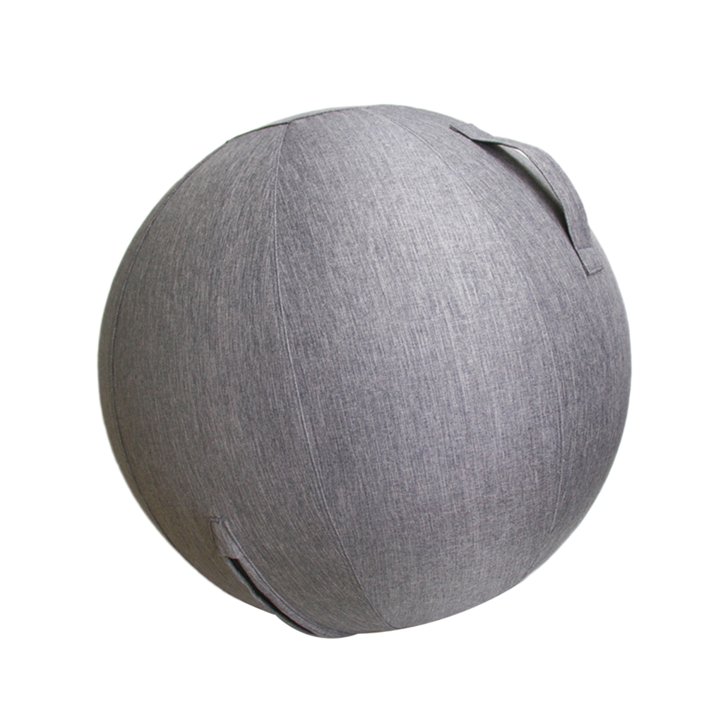 Durable Linen Yoga Ball Cover Balance Ball Protective Cover With Bottom Ring Portable Accessories For Fitness Yoga Gym Workout