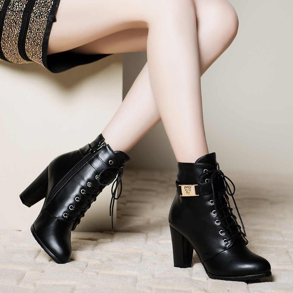 Karinluna 2019 elegant คุณภาพสูงขนาดใหญ่ 43 รองเท้าส้นสูงรองเท้าผู้หญิงรองเท้าแฟชั่นผู้หญิงสำนักงานเลดี้รองเท้าข้อเท้าผู้หญิง
