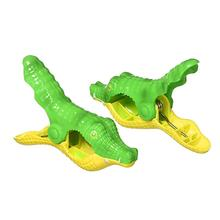 2PCS Beach Towel Clip Simulation Animal Strong Windproof Bath Towel Clothes Hanger Clip Sunbed Pegs Pool Towel Clips Quilt Clamp