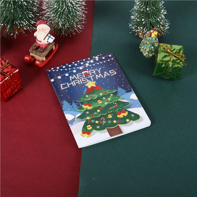 Christmas Card Set Santa Claus Elk Snowman Diamond Painting DIY Holiday Card 30 x 15 x 2cm Merry Christmas Navidad 40OCT71