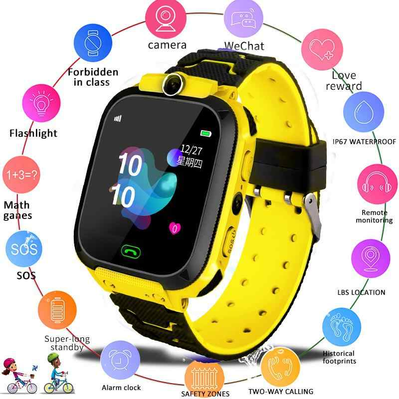 Enfants montre intelligente étanche bébé SOS positionnement appel 2G carte SIM Anti-perte Smartwatch enfants Tracker horloge intelligente appel montre