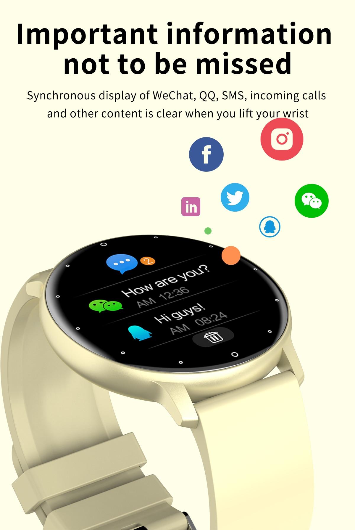 H26f5974378474ff9bd8cb71412bb239dQ LIGE 2021 Fashion Smart Watch Men Fitness Bracelet Heart Rate Blood Pressure Monitoring Sports Tracker Smartwatch Gift for Women