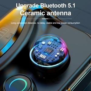 Image 2 - G08 Bluetooth 5.1 אוזניות מגע שליטה אלחוטי Headphons HiFi IPX7 עמיד למים אוזניות אוזניות עם LED תצוגת טעינת תיבה