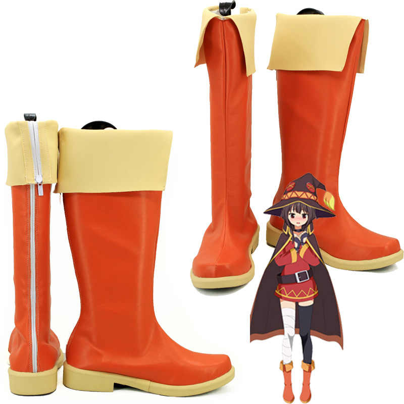 KonoSuba God/'s Blessing on This Wonderful World Megumin Shoes Cosplay Boots MM