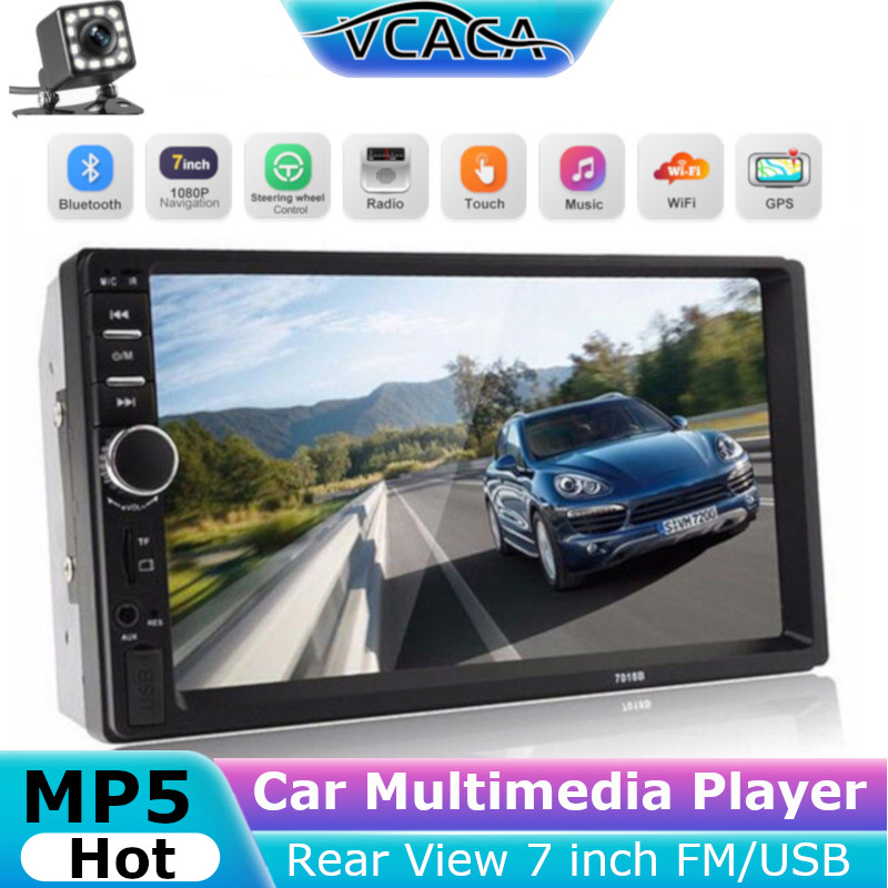 Car Multimedia Player MP5 Support TF Card Stereo Rear View 7 inch FM/USB/AUX LCD Touch Screen Stereos Accessories Gps Carplay image