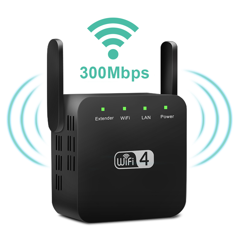 Wireless WiFi Repeater Wifi Extender 300Mbps Wi Fi Amplifier Long Range Wifi Signal Booster Ultraboost Long Range Wifi Repiter|Modem-Router Combos| |  - title=