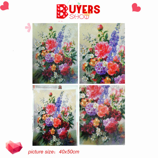 HUACAN 5D DIY Diamond Painting Flower Diamond Embroidery Roses Full Drill Square Picture Of Rhinestone Diamond