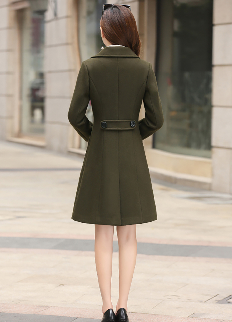Woolen Women Jacket Coat Long Slim Blend Outerwear 2019 New Autumn Winter Wear Overcoat Female Ladies Wool Coats Jacket Clothes 10