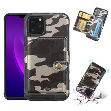 Army Green Leather Phone Case For iPhone 11 Pro Max Shockproof Cover for XR XS X 8 7 6 6S Plus Camouflage Wallet Cases