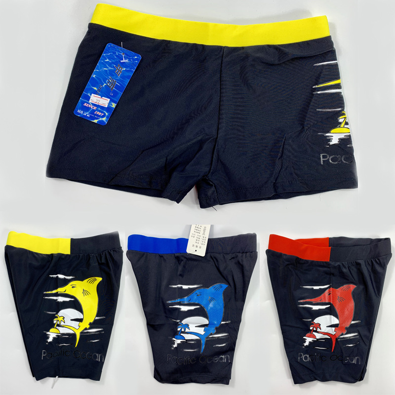 CHILDREN'S Swimming Trunks Shen Yu New Style BOY'S Baby Cartoon Swimming Trunks Dolphin Big Kid Kids Boxers Manufacturers Direct