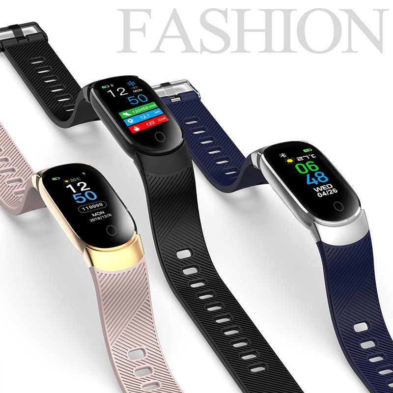 QW18 Kleur Screen Smart Armband QW16 Hartslagmeter IP68 Waterdichte Fitness Tracker Band Bluetooth 4.0 Sport Polsbandjes