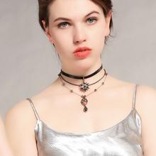 Многослойное темпераментное ожерелье с подвеской в виде капли