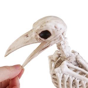 Image 5 - Crazy Bone Skeleton Raven Plastic Animal Skeleton Bones Horror Halloween Decoration Halloween Prop Bird Crow Skeleton Decoration