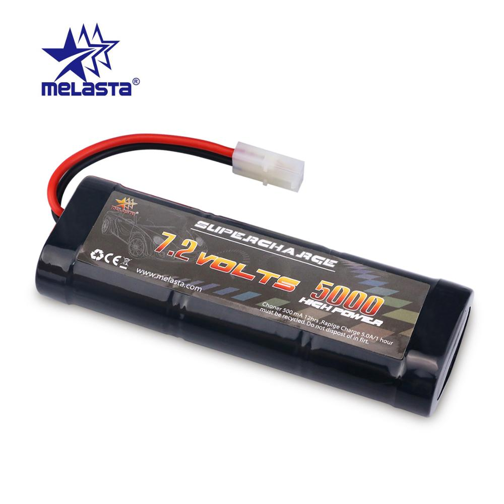 MELASTA 7.2V 5000mAh NiMH Rechargeable RC Toy Battery With Tamiya/Banana Discharge Connector For RC Racing Cars Boat Aircraft