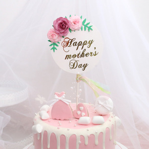 Image 5 - Flower Happy Birthday Cake Topper Mothers Day Cake Decorations Kids Birthday Cake Supplies Baby Shower Cupcake Topper