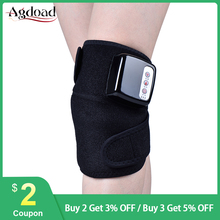 AGDOAD Heat Therapy Kneepad Support Brace Wrap Vibration Massage Knee Joint Pain Relief Treatment Far Infrared Kneeler Massager