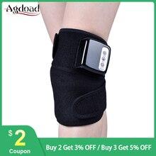 AGDOAD terapia cieplna Kneepad wsparcie zawijany ochraniacz wzmacniający masaż wibracyjny staw kolanowy ulga w bólu leczenie dalekiej podczerwieni masażer Kneeler
