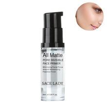 Maquiagem primer mattiying poro minimização primer rugas ocultas e linhas finas suaves óleo-controle rosto primer maquiagem gel 6ml
