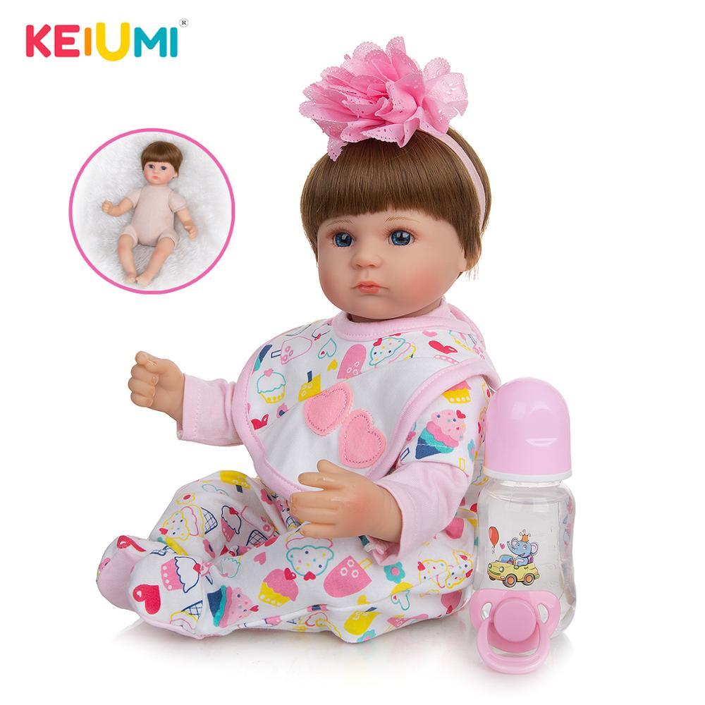 Купить keiumi реалистичные детские куклы reborn 17 ''42 см