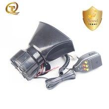 Universal 12v carro amplificador megafone polícia sirene buzina de som 24v barco alto falante tom alarme gravação pa mic sistema