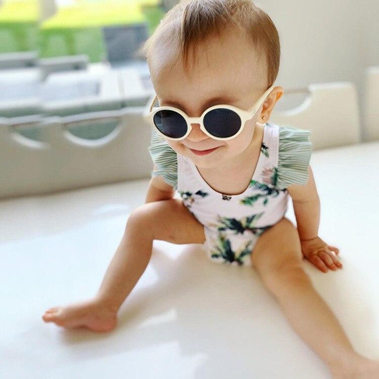 KID'S Swimwear Girls Cute Holiday Coconut Tree Bow Children Infant One-piece CHILDREN'S Swimsuit