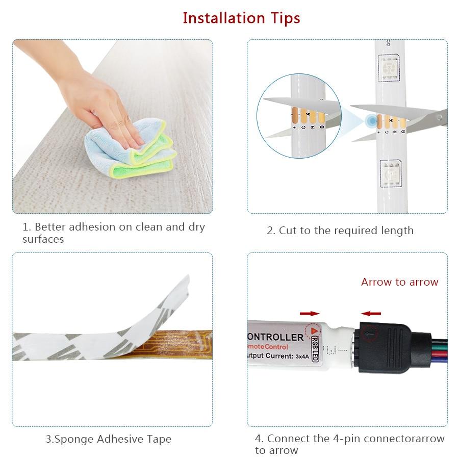 DC12V 5M 10M 15M RGB LED strip 5050 RGB Flexible LED Light Waterproof LED tape ribbon Adhesive Tape with IR remote For Home kit (3)