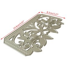 Цветок лист крышка металла резки штампы Трафаретный Скрапбукинг