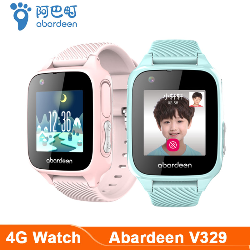 Abardeen V329 Smart baby Watch GPS Glonass locator IP67 Waterproof Smart watch kids 4G SIM Card video call Connect IOS Android image